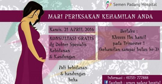 Konsultasi Kehamilan Gratis di Hari Kartini
