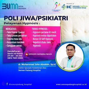 Layanan Poli Jiwa/Psikiatri dr. Muhammad John Abrahim, Sp.kJ